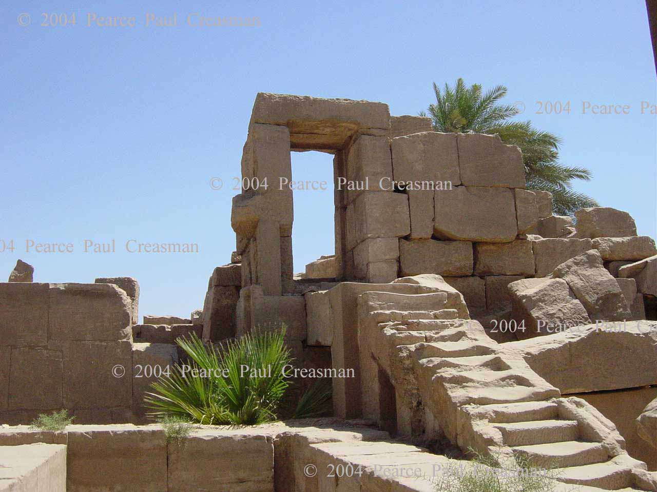 Entry to a Dilapidated Temple at Karnak